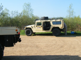 30 Min. Hummer H1 offroad fahren in Knüllwald, Hessen