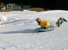 Airboarding in Lenggries, Raum München in Bayern