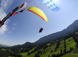 Gleitschirm-Tandemflug in Aschau an der Kampenwand