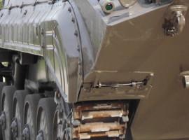 """Beifahrer im BMP Schützenpanzer \""""Speedfahrt\"""" in Steinhöfel"""