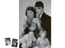 Einzelportrait (120x90) nach klassischem Foto