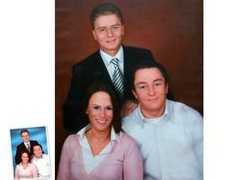 Einzelportrait (120x90) nach Schwarz/Weiß Foto