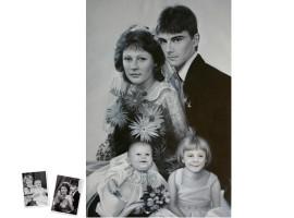 Einzelportrait (50x40) nach klassischem Foto