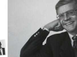 Einzelportrait (60x50) nach Schwarz/Weiß Foto