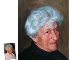Einzelportrait (90x60) nach klassischem Foto