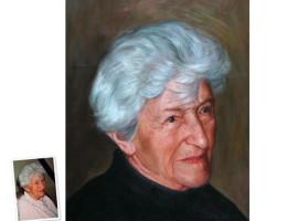 Einzelportrait (90x60) nach Schwarz/Weiß Foto