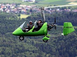 15 Min. Tragschrauber Rundflug in Erbach