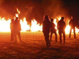 Feuerlaufen in Hennef, Raum Bonn in NRW