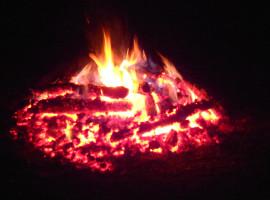 Feuerlaufen in Lengdorf, Raum Erding in Bayern