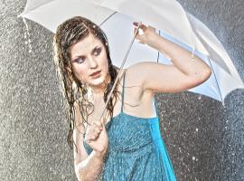 Fotoshooting im Regen Essen