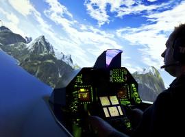 60 Min. Flugsimulator F-16 in Frankfurt-Kalbach