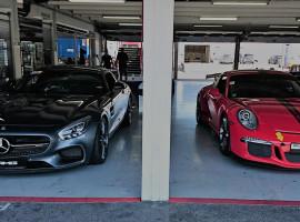 2 Runden Porsche vs. Mercedes Renntaxi auf der Nordschleife