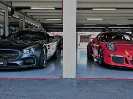 Porsche vs. Mercedes Renntraining in Groß Dölln