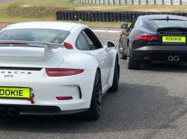 6 Runden Jaguar F-Type S und 6 Runden Porsche GT3 selber fahren auf dem Spreewaldring