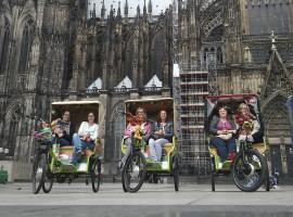 Rikscha selber fahren in Köln, 4 Std.
