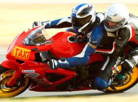 Motorrad-Renntaxi auf dem Circuit Zolder, Belgien