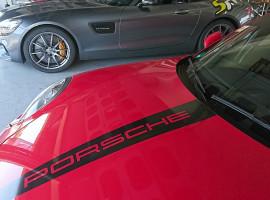 Porsche vs. Mercedes Renntaxi auf dem Nürburgring