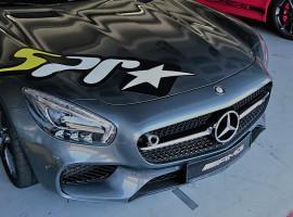 Porsche vs. Mercedes Renntaxi auf dem Hockenheimring