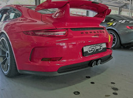 Porsche vs. Mercedes Renntaxi in Oschersleben
