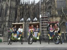 Rikscha-Stadtrundfahrt in Köln