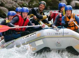 Schlauchboot-Tagestour auf der Saalach in Bad Reichenhall