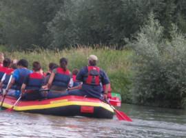 Schlauchboot-Tour auf dem Altrhein in Istein