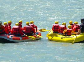 Schlauchboot-Tour auf der Rott bei Bad Griesbach, Bayern