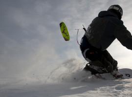 """Snowkiten \""""Schnupperkurs\"""" in Lofer, Österreich"""