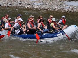 Schlauchboot Tour auf der Spree Sprey