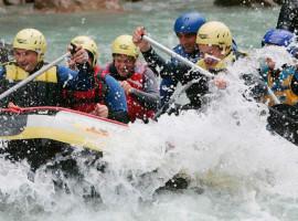 Wildwasser Wochenende auf der Saalach mit Canyoning in Bad Reichenhall, Raum München in Bayern