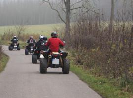 Winter-Quad-Tour in Zeitlarn, Raum Regensburg in Bayern