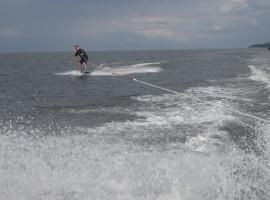 15 Min. Wakeboard fahren auf der Ostsee in Zinnowitz