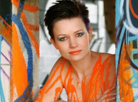 Fotoshooting mit Körperfarbe